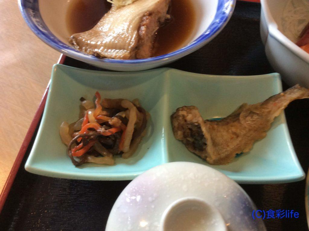 味波季 2017年9月訪問 ハタの南蛮漬、ゼンマイの煮物