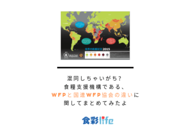 混同しちゃいがち?食糧支援機構である、WFPと国連WFP協会の違いに関してまとめてみたよ アイキャッチ
