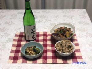 よしのとも 特別純米酒 料理例①