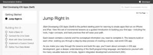 Start Developing iOS Apps (Swift) 公式
