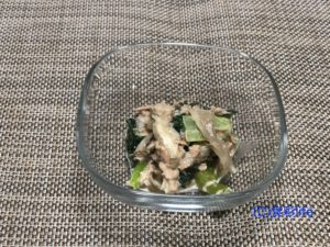 食べチョクで購入した小松菜レシピ①