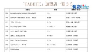 「TABETE」(2020.3.18) 加盟店一覧35