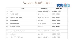 「rebake」(2020.3.18) 加盟店一覧6