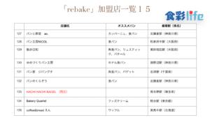 「rebake」(2020.3.18) 加盟店一覧15