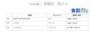「rebake」(2020.3.18) 加盟店一覧24
